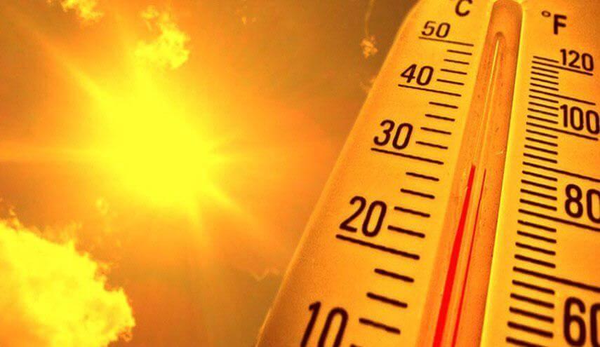 درجات الحرارة العالية في الرياض